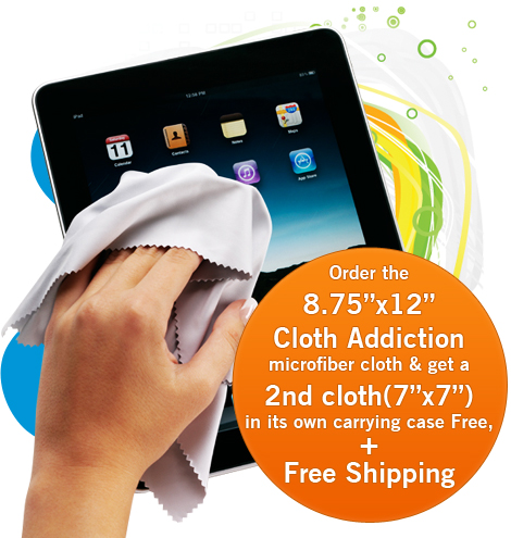 Cloth Addiction Microfiber Cloth in its own carrying case plus Free Shipping