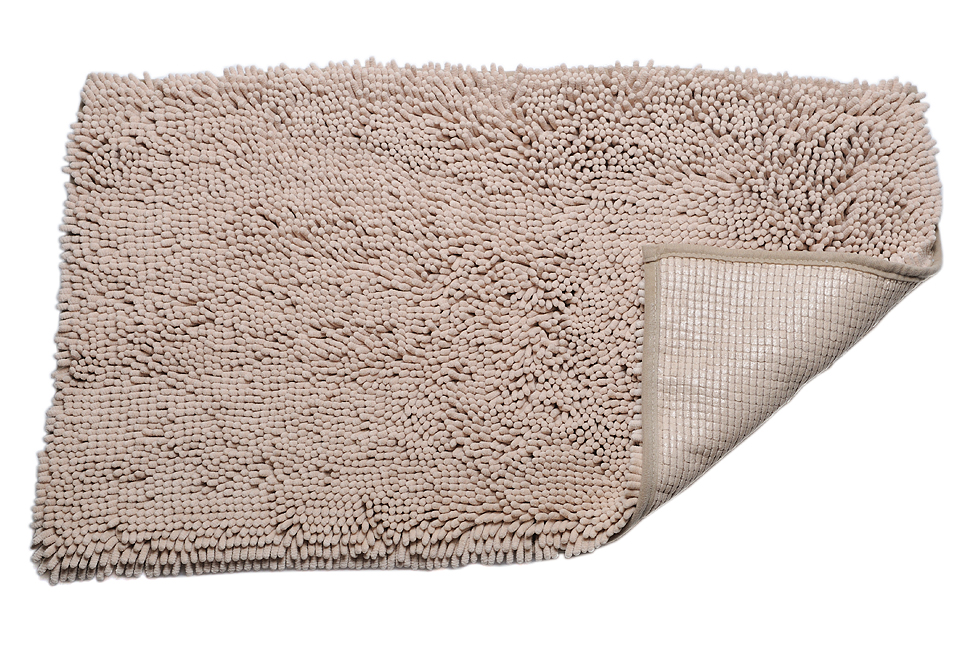 Power Threads� Microfiber Chenille Bath Mat-Beige